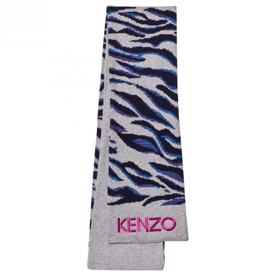 Kenzo Pink Tiger Print Scarf Villahuivi