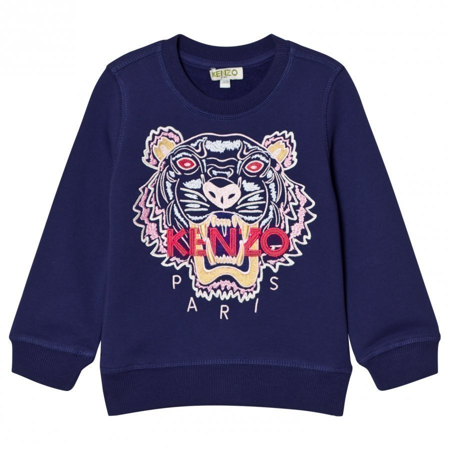 Kenzo Purple Embroidered Tiger Sweatshirt Oloasun Paita
