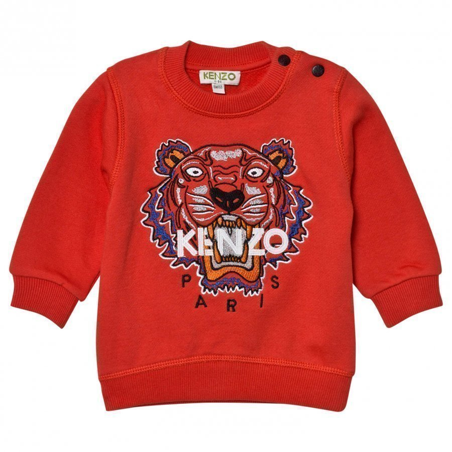 Kenzo Red Tiger Embroidered Sweatshirt Oloasun Paita