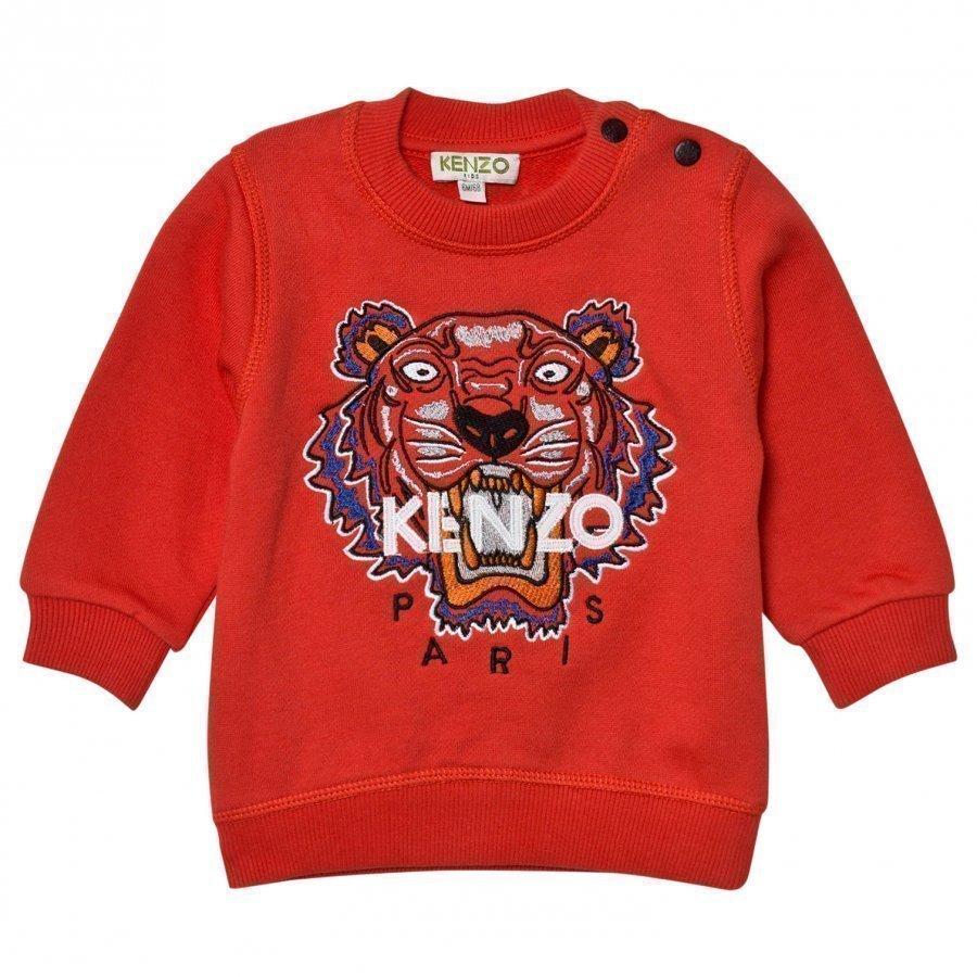 Kenzo Red Tiger Embroidered Sweatshirt Oloasun Paita