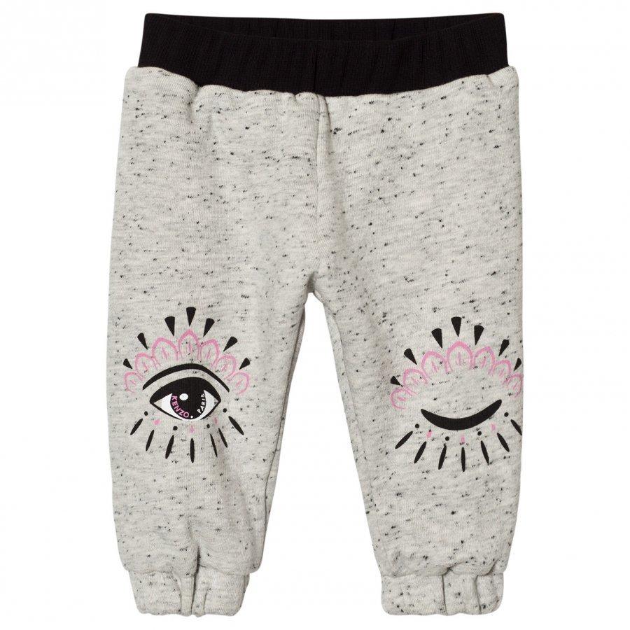 Kenzo Reversible Eye Print Track Pants Grey/Pink Verryttelyhousut