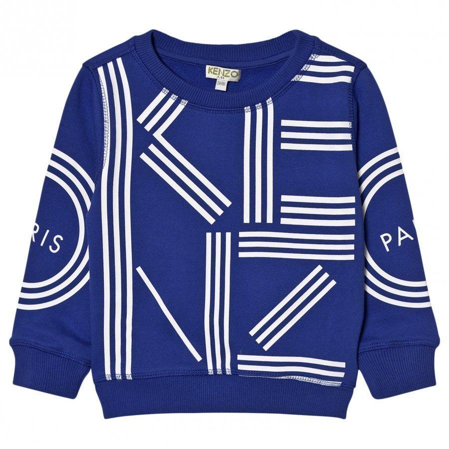 Kenzo Royal Blue Kenzo Logo Sweatshirt Oloasun Paita