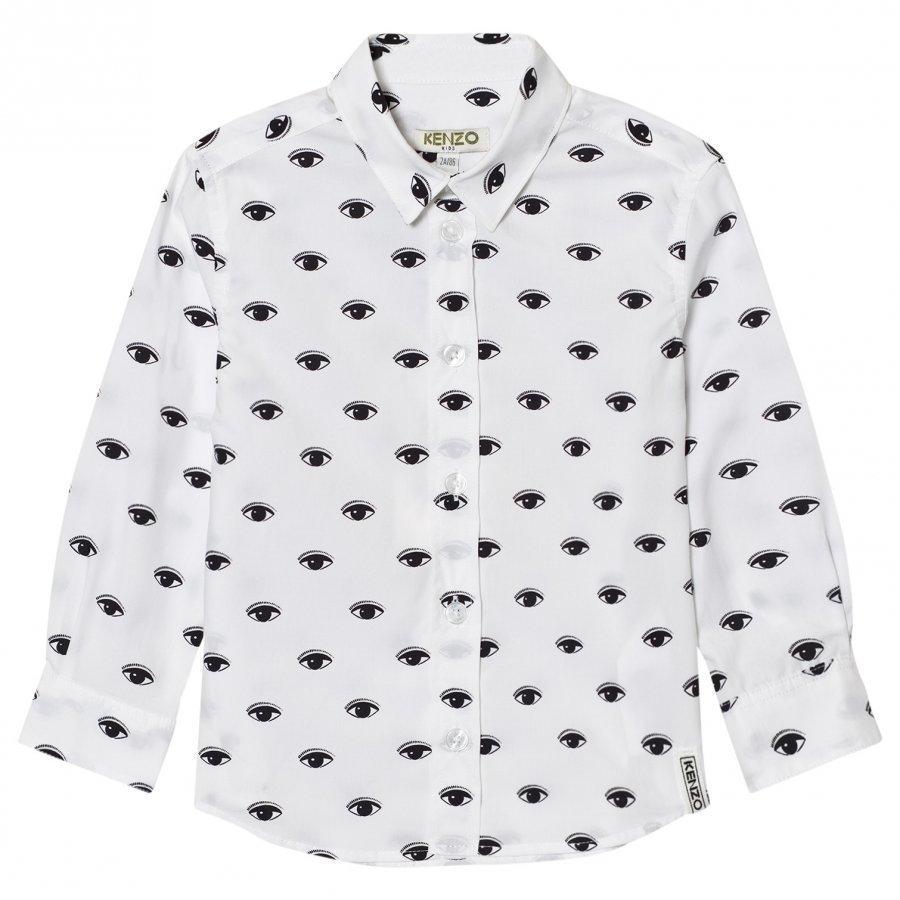 Kenzo White All Over Eye Print Shirt Kauluspaita