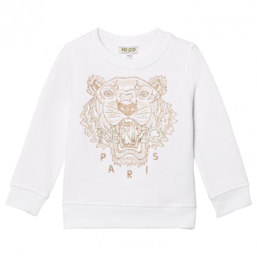 Kenzo White And Gold Embroidered Sweatshirt Oloasun Paita