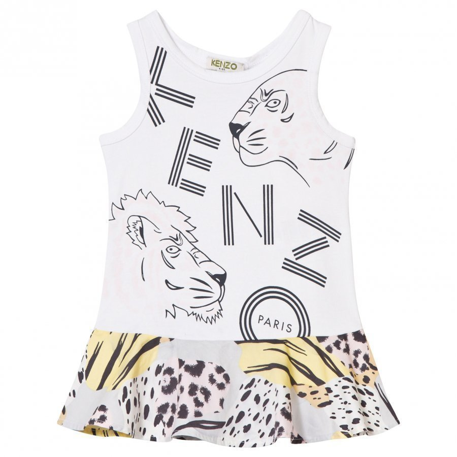 Kenzo White Branded Vest Dress Mekko