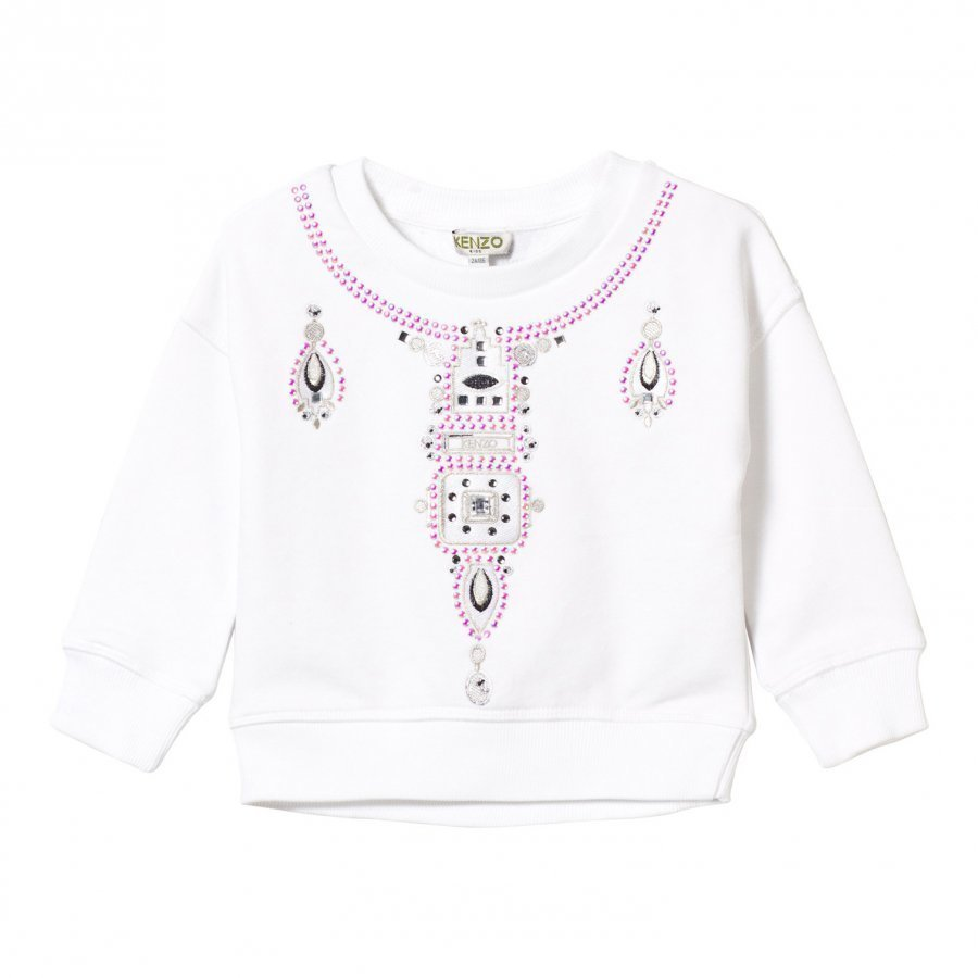 Kenzo White Necklace Effect Sweatshirt Oloasun Paita