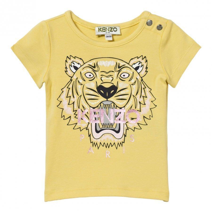 Kenzo Yellow Tiger Print Tee T-Paita