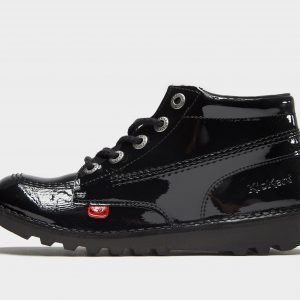 Kickers Kick Hi Black Patent