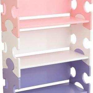 KidKraft Kirjahylly Puzzle Pastelli