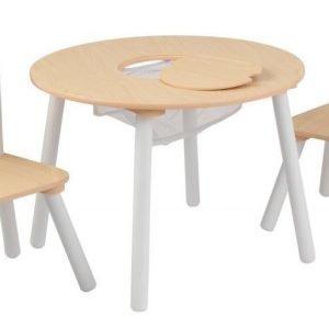 KidKraft Pöytä & 2 tuolia Puunvärinen