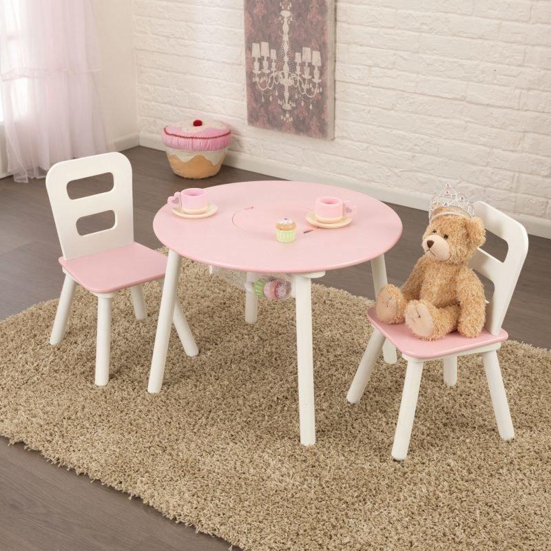 KidKraft Pöytä & 2 tuolia Vaaleanpunainen