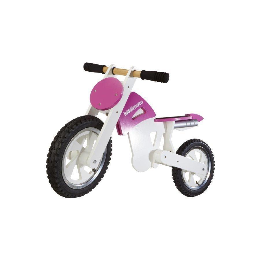 Kiddimoto Potkupyörä Scramble Motocross Pink / White