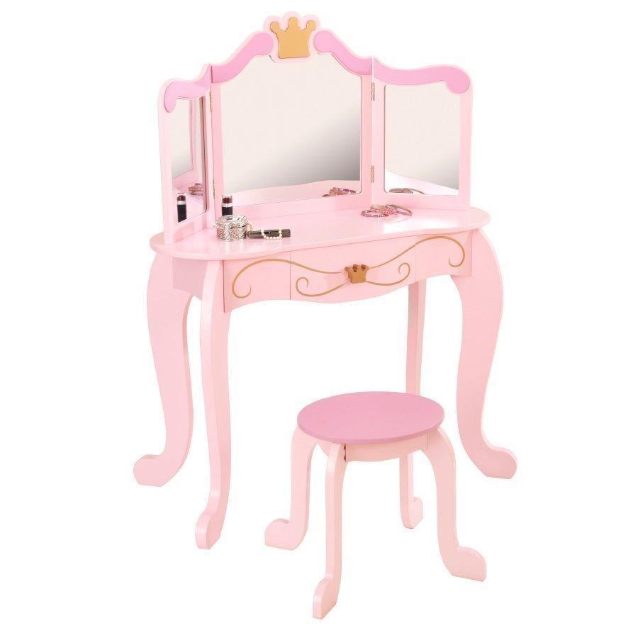 Kidkraft Kampauspöytä Ja Tuoli Prinsessa