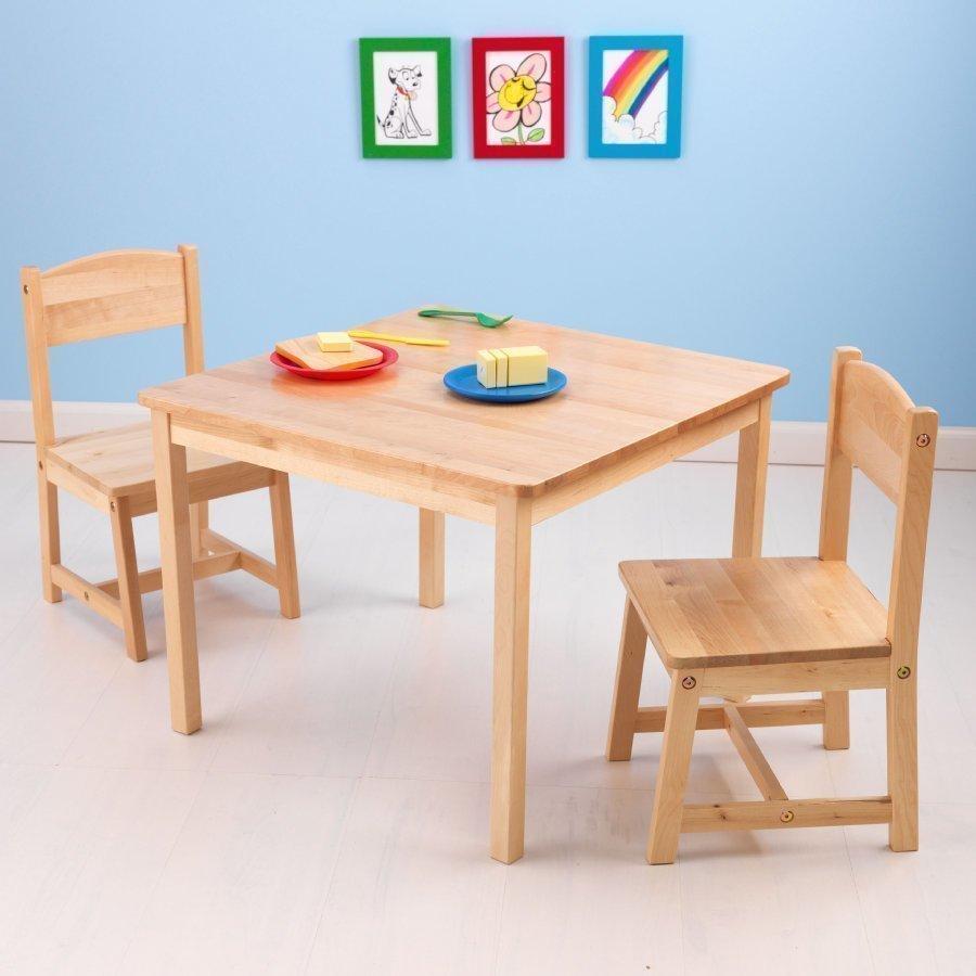 Kidkraft Pöytä Ja Kaksi Tuolia Aspen Puunvärinen