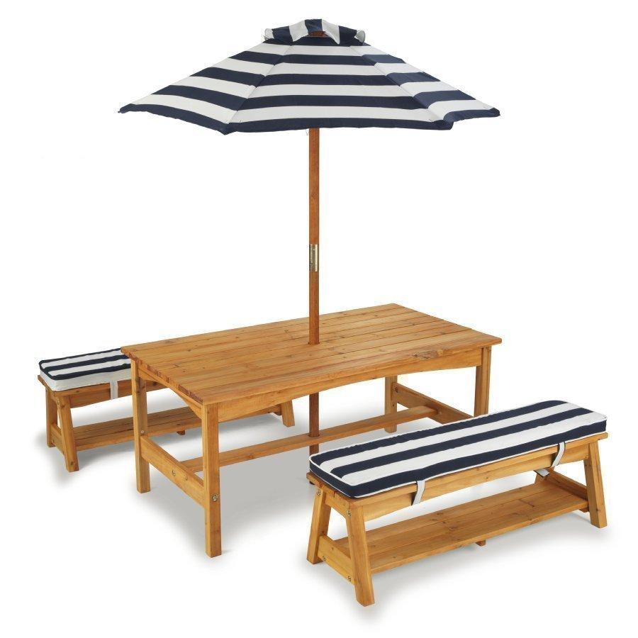 Kidkraft Ulkopöytä Ja Penkit + Aurinkovarjo