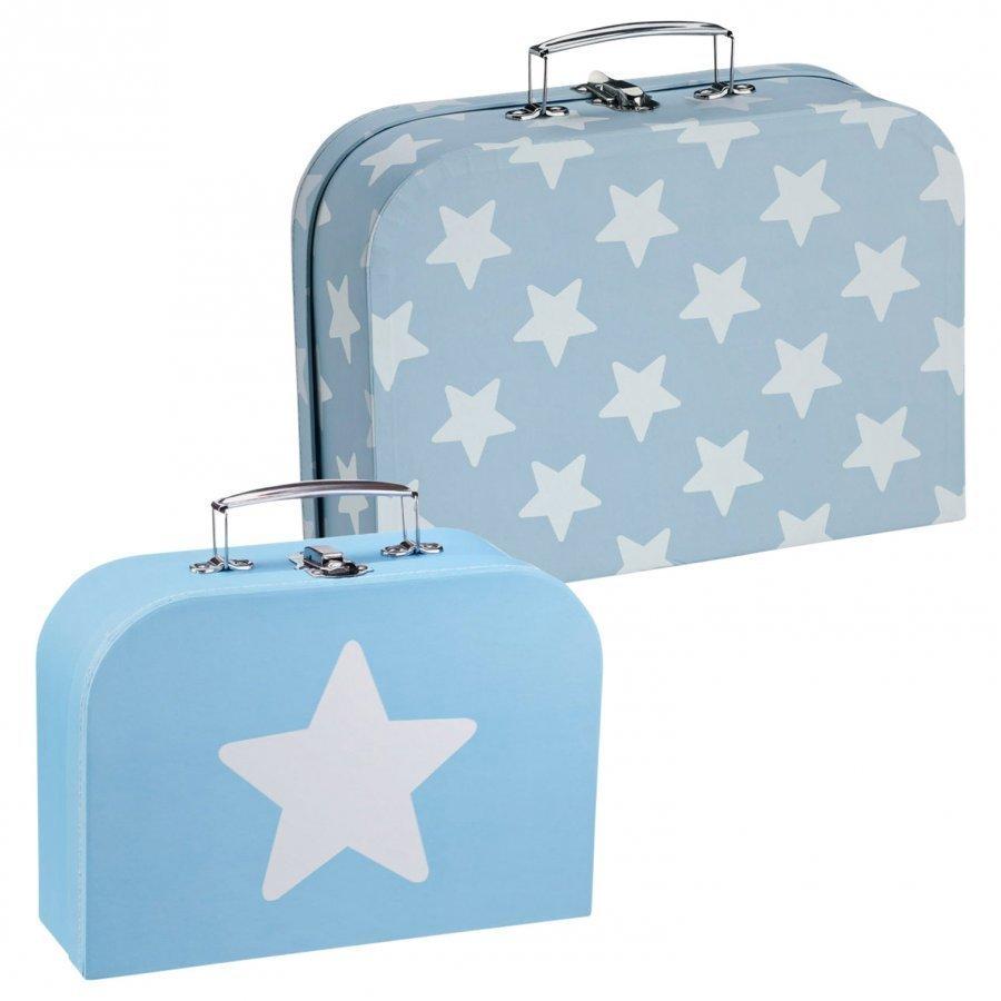 Kids Concept 2-Pack Suitcase Blue Säilytyslaatikko