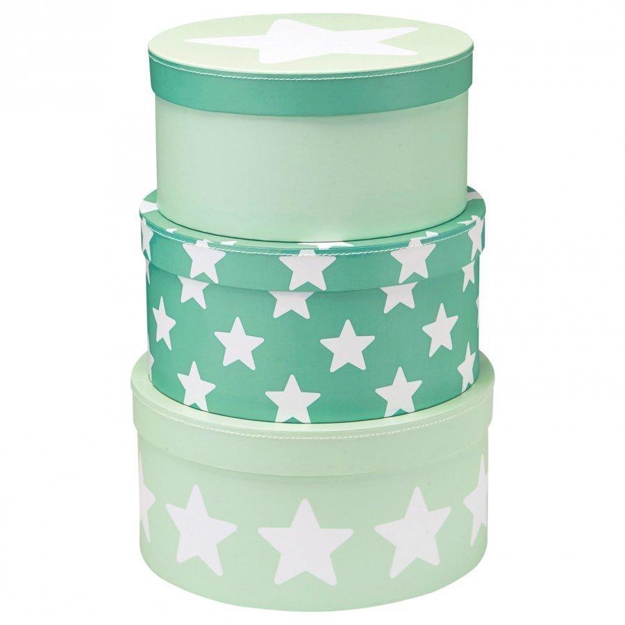Kids Concept 3-Set Storage Boxes Star Mint Säilytyslaatikko