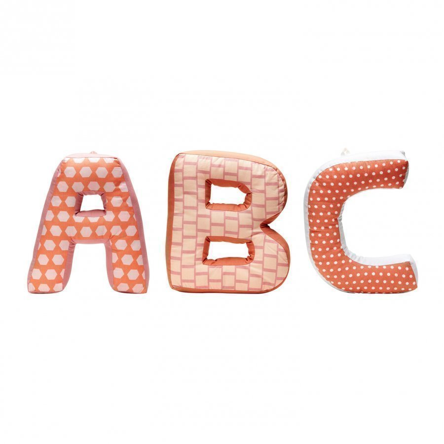 Kids Concept Abc Cushions Edvin Pink/Multi Tyyny