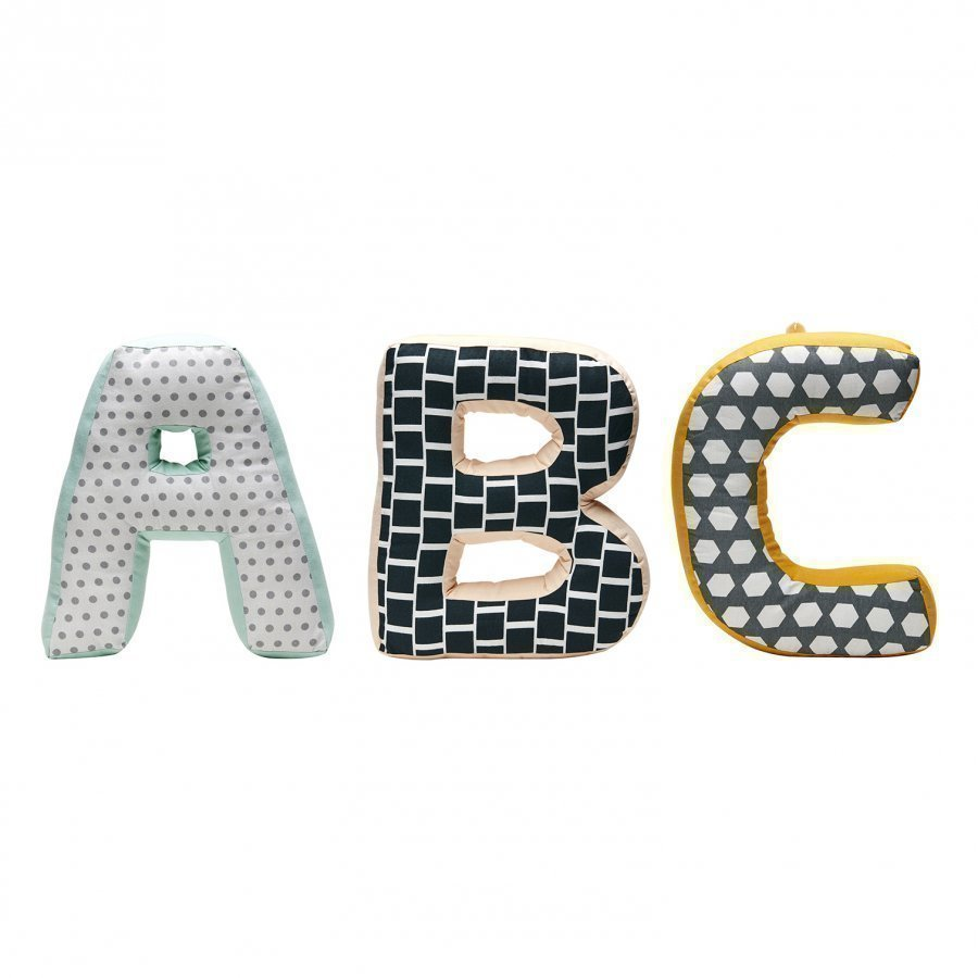 Kids Concept Abc Cushions Neo Green/Multi Tyyny
