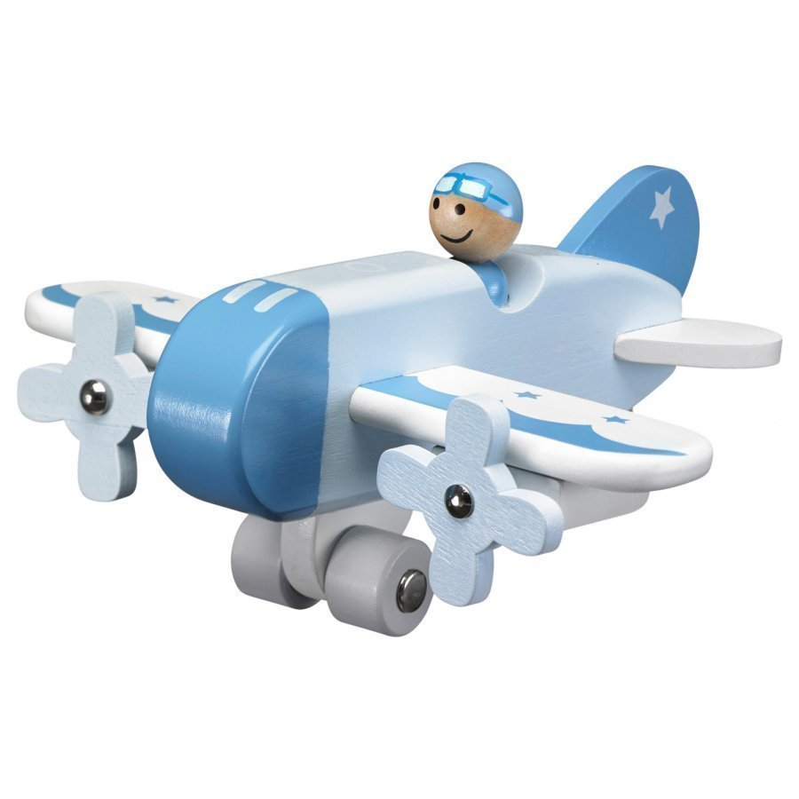 Kids Concept Airplane Blue Leikkilentokone