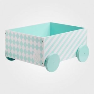 Kids Concept Barnkammaren Box With Wheels Mint Säilytyslaatikko