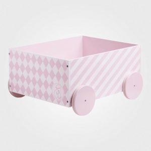 Kids Concept Barnkammaren Box With Wheels Pink Säilytyslaatikko