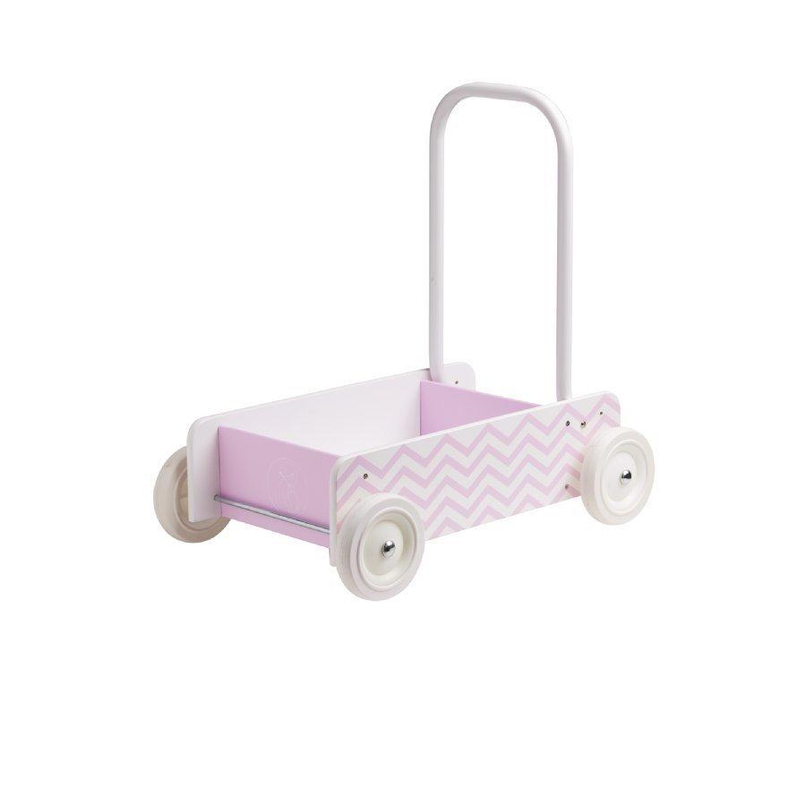 Kids Concept Barnkammaren Kävelyvaunu Vaaleanpunainen