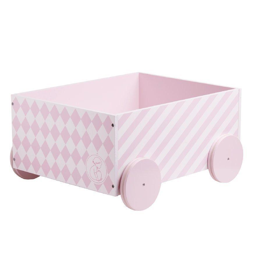 Kids Concept Barnkammaren Leluvaunu Vaaleanpunainen