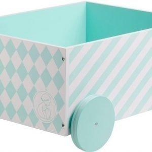 Kids Concept Barnkammaren Pyörällinen säilytyslaatikko Mintunvihreä