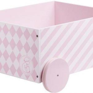 Kids Concept Barnkammaren Pyörällinen säilytyslaatikko Vaaleanpunainen