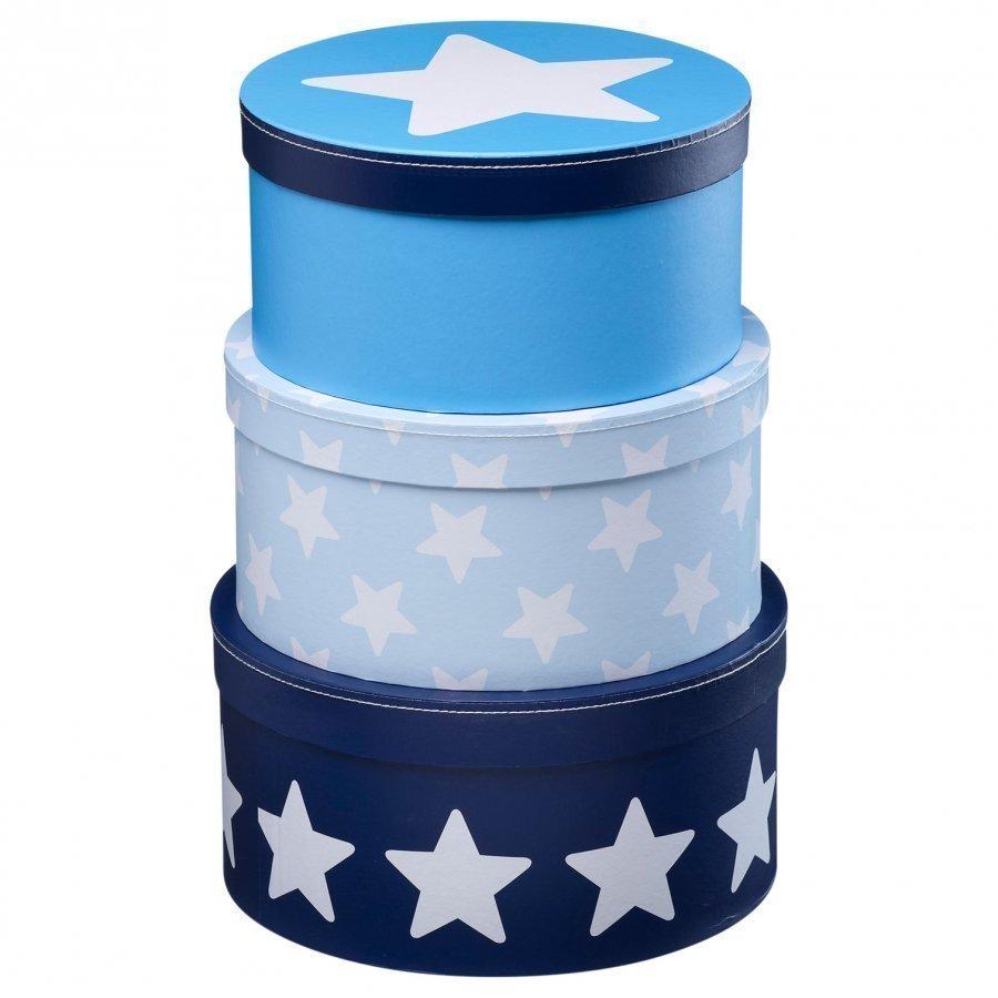 Kids Concept Boxes Round Star Blue Säilytyslaatikko