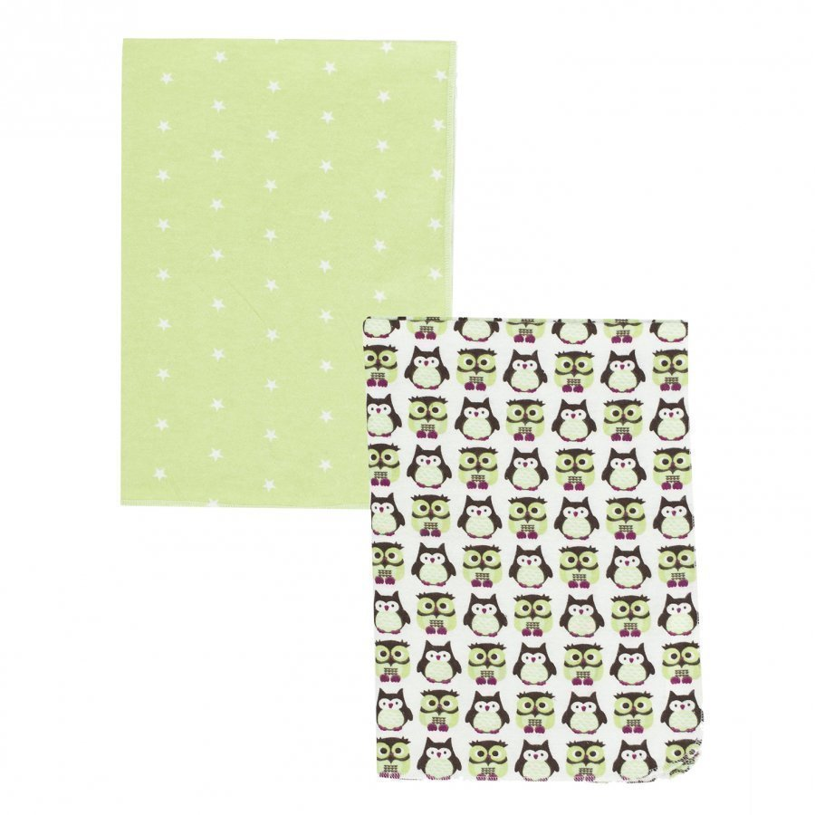 Kids Concept Flannel Blanket Pumpkin 2-Pack Green Huopa
