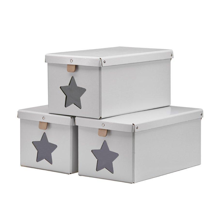 Kids Concept Kenkälaatikko 3 Kpl Harmaa