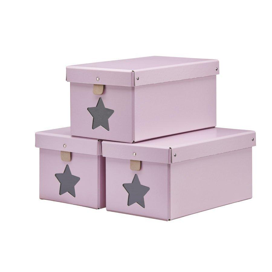 Kids Concept Kenkälaatikko 3 Kpl Vaaleanpunainen