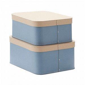 Kids Concept Love Säilytyslaatikko Sininen 2-Pakkaus