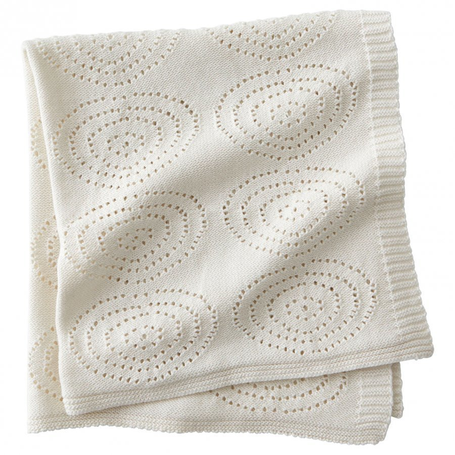 Kids Concept Neo Knitted Cotton Blanket White Huopa