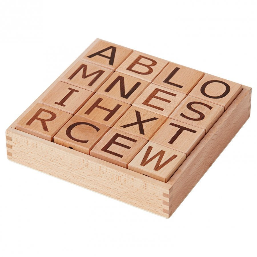 Kids Concept Neo Wooden Letter Blocks Natural Palikat