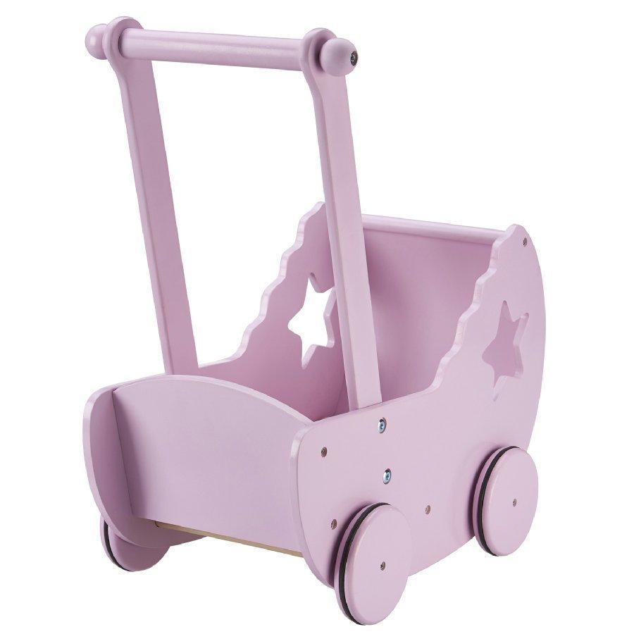 Kids Concept Nukenvaunut Peitolla Ja Patjalla Vaaleanpunainen