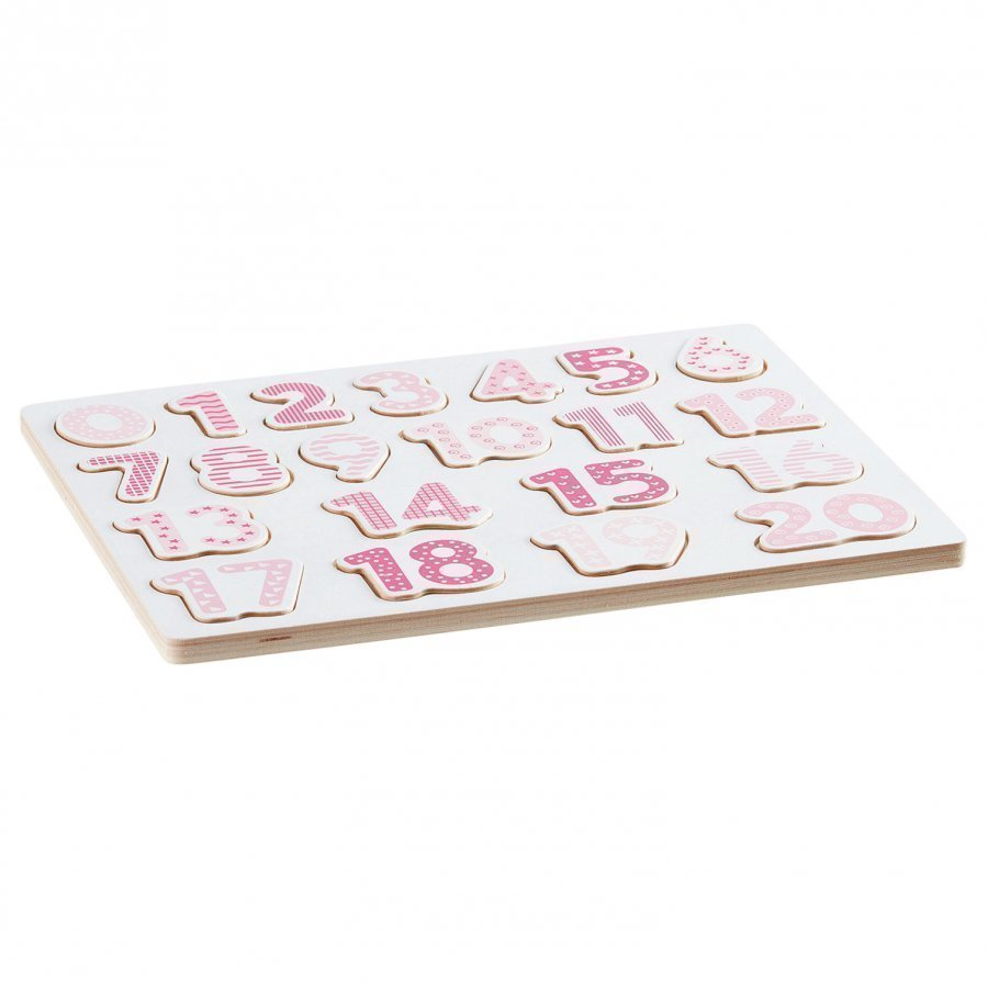 Kids Concept Number Board Puzzle Pink Palapeli