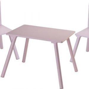 Kids Concept Pöytä + Tuoli Pinkki Paketti