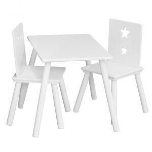 Kids Concept Pöytä ja 2 tuolia Valkoinen Paketti