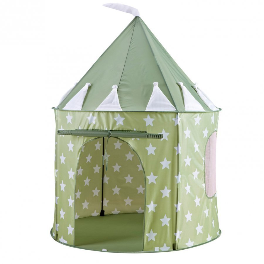Kids Concept Play Tent Star Light Green Leikkiteltta