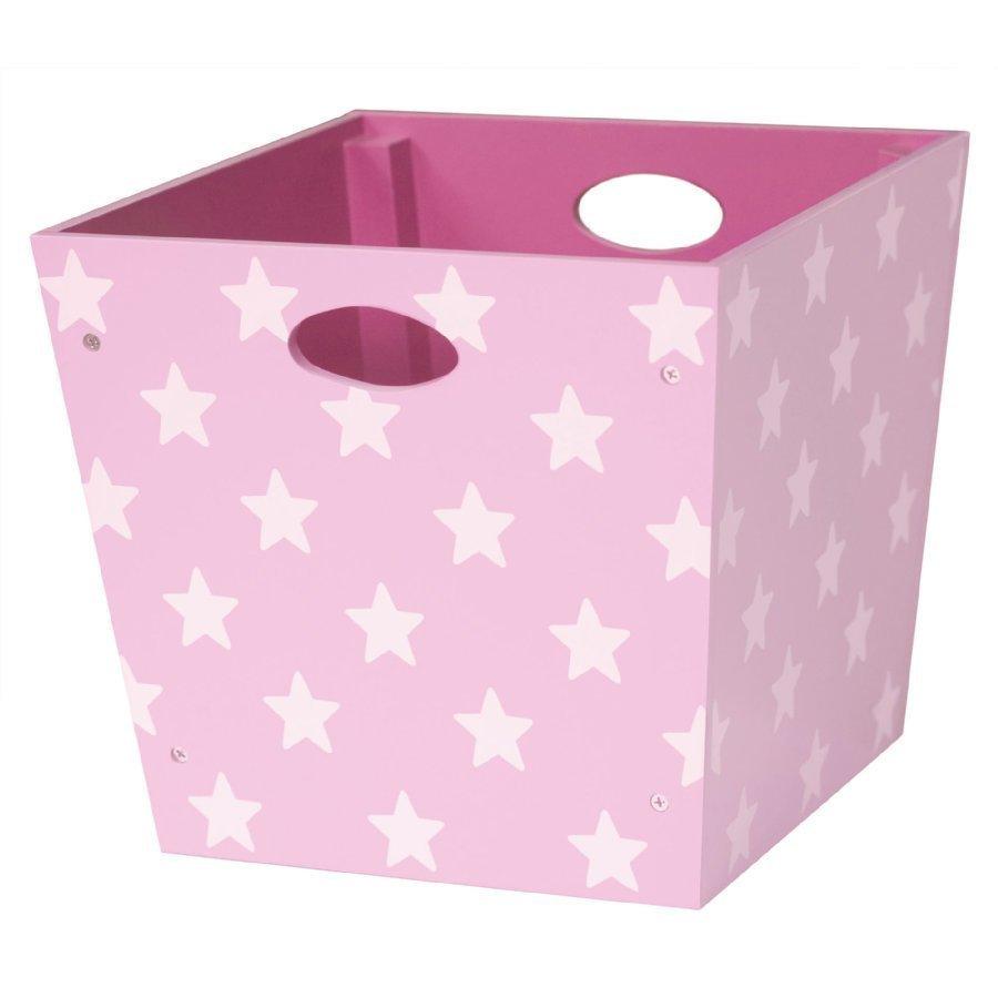 Kids Concept Puinen Säilytyslaatikko Star Vaaleanpunainen