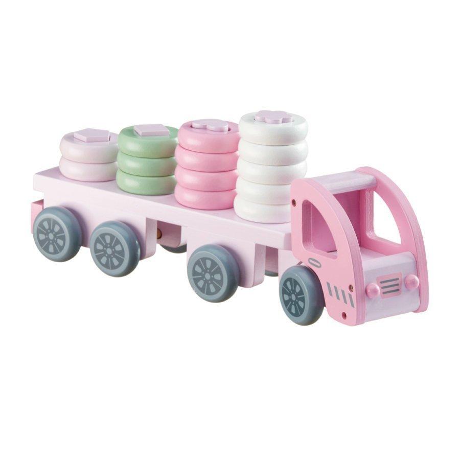 Kids Concept Pujotuspeli Kuorma Auto Vaaleanpunainen