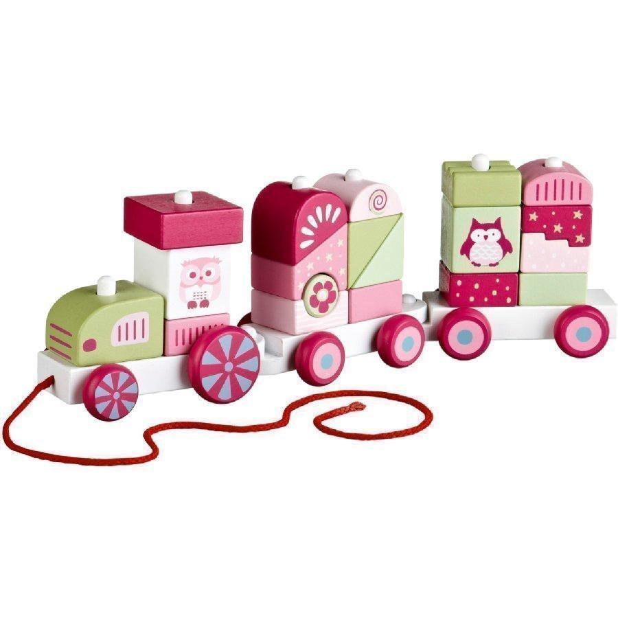 Kids Concept Pumpkin Palikkajuna Vaaleanpunainen