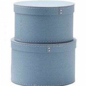 Kids Concept Pyöreä Rosalie Säilytyslaatikko Sininen 2-Pakkaus