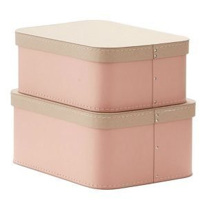 Kids Concept Säilytyslaatikko Vaaleanpunainen 2 Setti