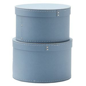 Kids Concept Säilytyslaatikot Pyöreä Sininen 2-Pakkaus