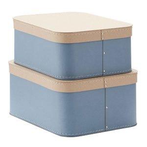 Kids Concept Säilytyslaatikot Sininen 2-Pakkaus