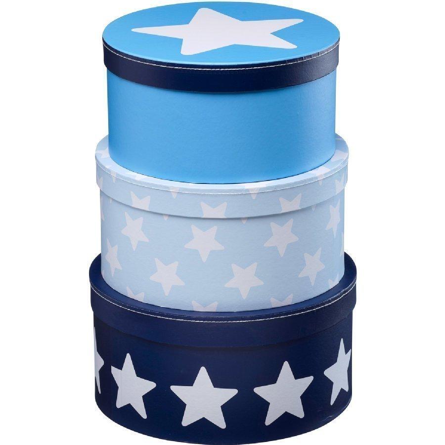 Kids Concept Säilytysrasia Star 3 Kpl Sininen